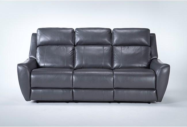 "Bridget Grey 86"" Power Reclining Sofa With Power Headrest And Lumbar - 360"