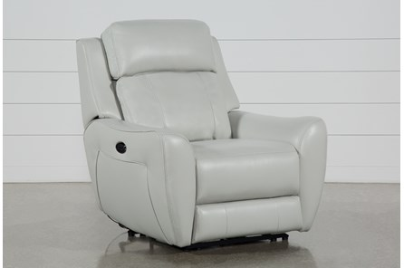 Bridget White Power Wallaway Recliner With Power Headrest And Lumbar