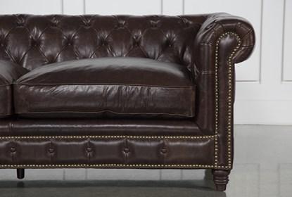 Enjoyable Churchill Leather Loveseat Bralicious Painted Fabric Chair Ideas Braliciousco