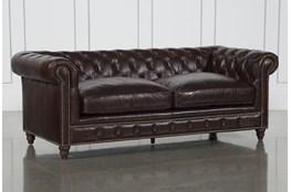 Churchill Leather Loveseat