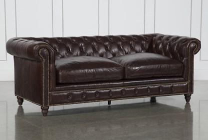 Marvelous Churchill Leather Loveseat Machost Co Dining Chair Design Ideas Machostcouk