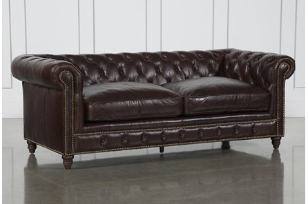 Churchill Leather Loveseat