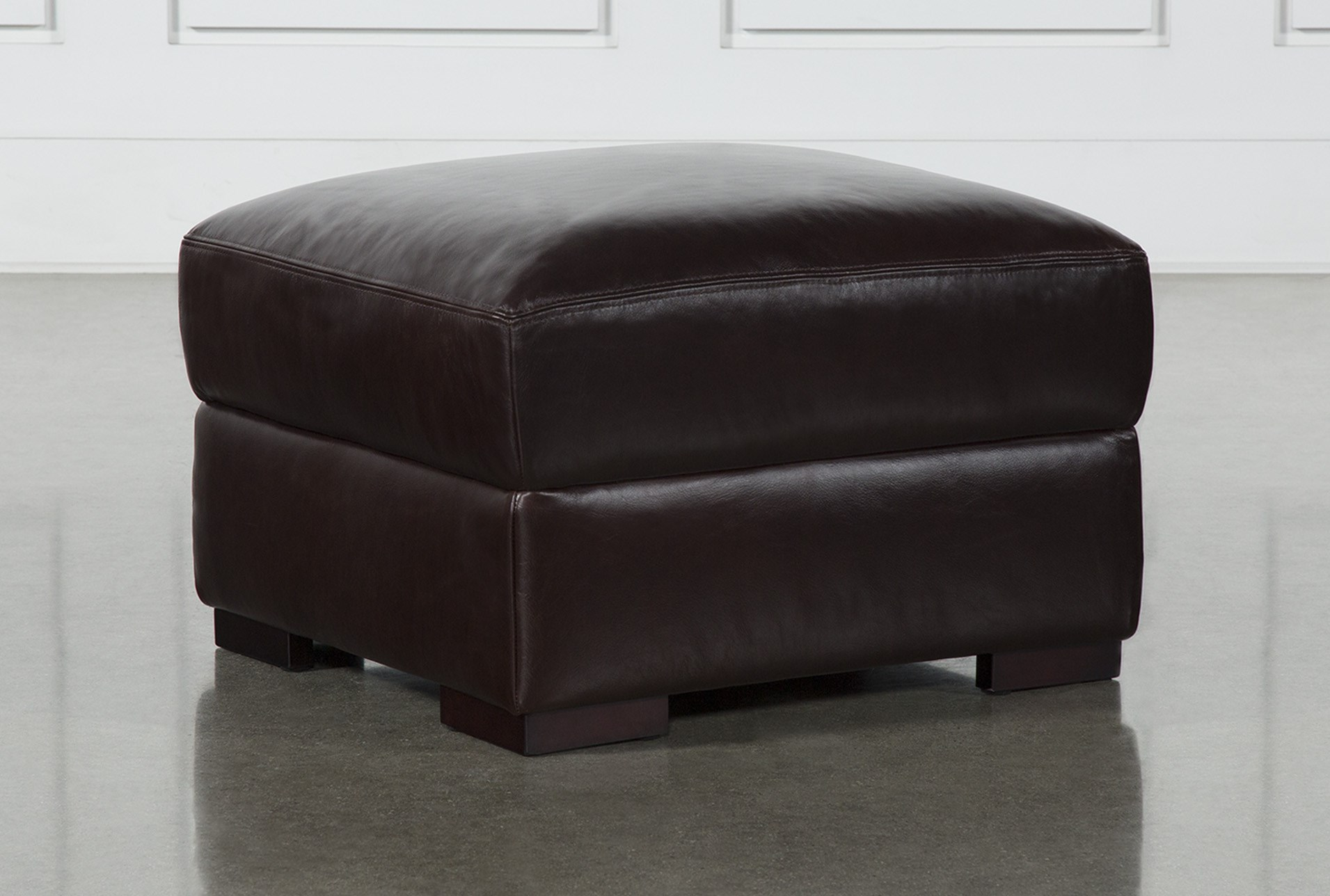 Stout Leather Ottoman Living Spaces