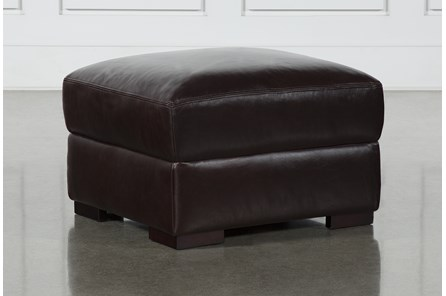 Stout Leather Ottoman - Main