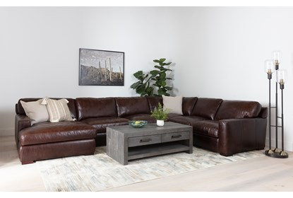 Stout Leather 3 Piece Sectional With
