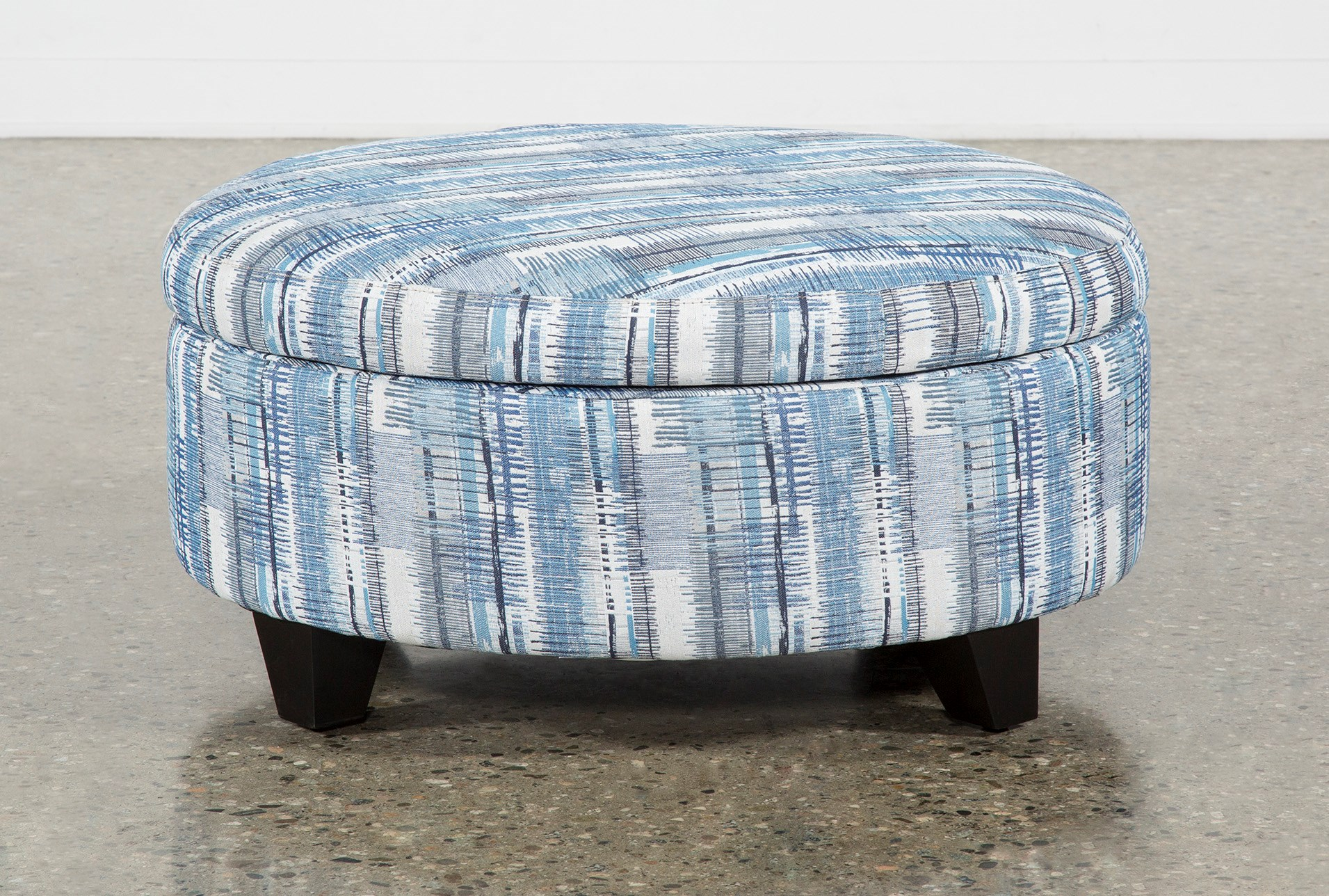 Surprising Benton Ii Medium Round Fabric Storage Ottoman Caraccident5 Cool Chair Designs And Ideas Caraccident5Info