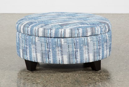 Swell Benton Ii Medium Round Fabric Storage Ottoman Machost Co Dining Chair Design Ideas Machostcouk