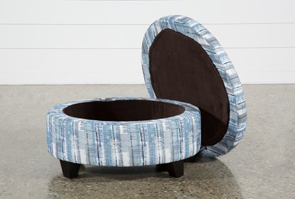 Fantastic Benton Ii Medium Round Fabric Storage Ottoman Caraccident5 Cool Chair Designs And Ideas Caraccident5Info