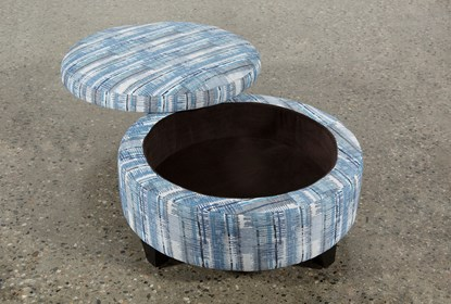 Astounding Benton Ii Medium Round Fabric Storage Ottoman Caraccident5 Cool Chair Designs And Ideas Caraccident5Info