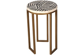OPTICAL INLAY SIDE TABLE