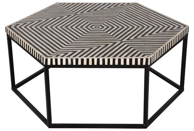 HEXAGONAL INLAY COFFEE TABLE - 360