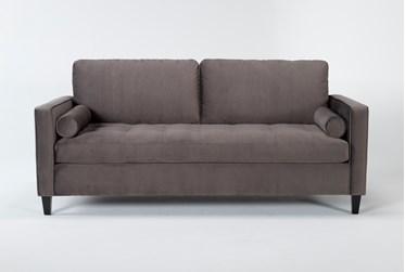 "Magnolia Home Sinclair Luxe Fog 38"" Sofa By Joanna Gaines"