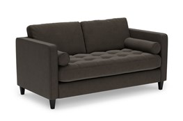 Magnolia Home Sinclair Luxe Fog Loveseat By Joanna Gaines