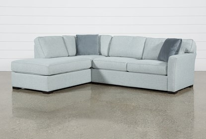 Aspen Tranquil Foam 2 Piece Sleeper 108 Sectional With Left Arm Facing Armless Chaise Living Spaces