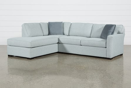 Aspen Tranquil 2 Piece Sleeper Sectional With Laf Chaise