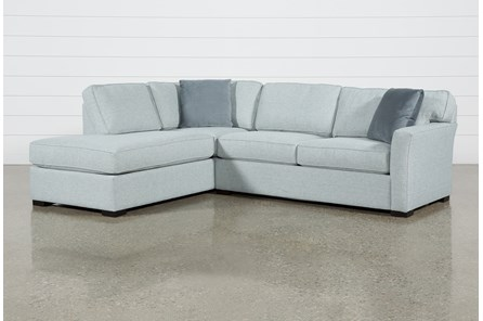 Aspen Tranquil Foam 2 Piece Sleeper Sectional With Left Arm Facing Armless Chaise