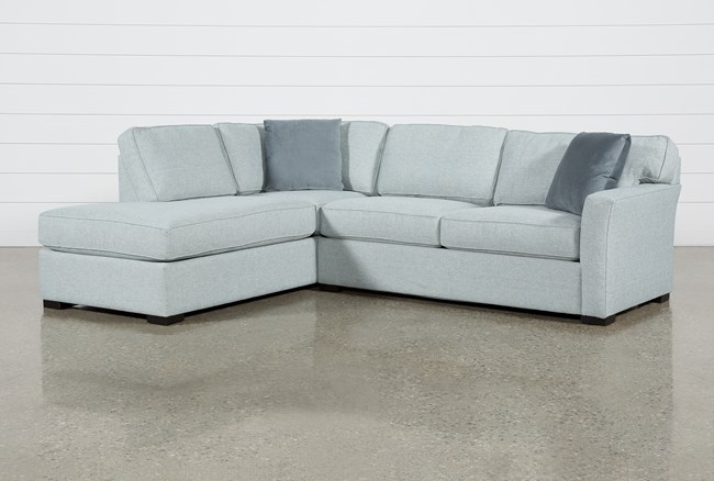 """Aspen Tranquil Foam 2 Piece Sleeper 108"""" Sectional With Left Arm Facing Armless Chaise - 360"""