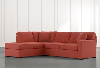 Aspen Red 2 Piece Sleeper Sectional with Left Arm Facing Chaise