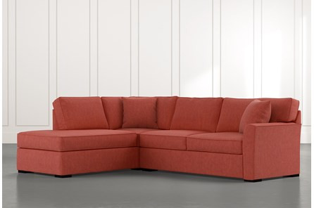 Aspen Red 2 Piece Sleeper Sectional With Laf Chaise