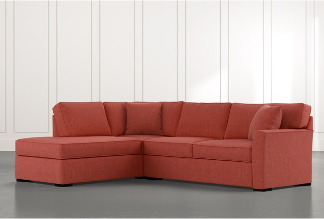 Aspen Red 2 Piece Sleeper Sectional with Left Arm Facing Chaise - 360