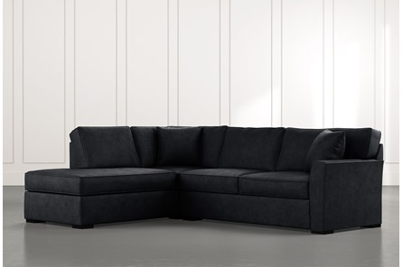 Aspen Black 2 Piece Sleeper Sectional With Laf Chaise
