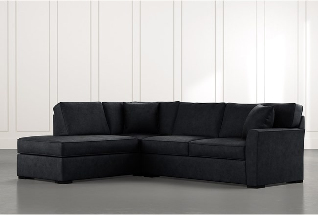 Aspen Black 2 Piece Sleeper Sectional with Left Arm Facing Chaise - 360