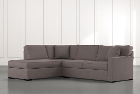 Aspen Dark Grey 2 Piece Sleeper Sectional With Laf Chaise
