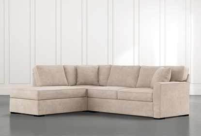 Aspen Beige 2 Piece Sleeper Sectional with Left Arm Facing Chaise