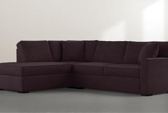 "Aspen Purple Foam 2 Piece Sleeper 108"" Sectional with Left Arm Facing Armless Chaise"