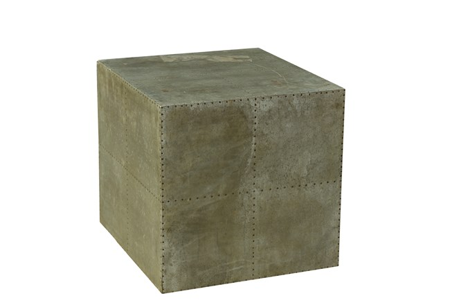 Otb Reclaimed Grey Iron Table - 360