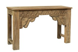 Reclaimed Natural Hand Carved Console Table