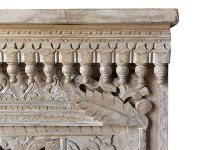 OTB RECLAIMED WHIE WASH HAND CARVED CONSOLE TABLE