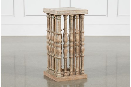 Reclaimed Column Side Table