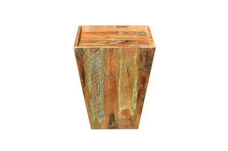 RECLAIMED SQUARE INSET SIDE TABLE