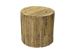 Reclaimed Brown Railway Small Side Table