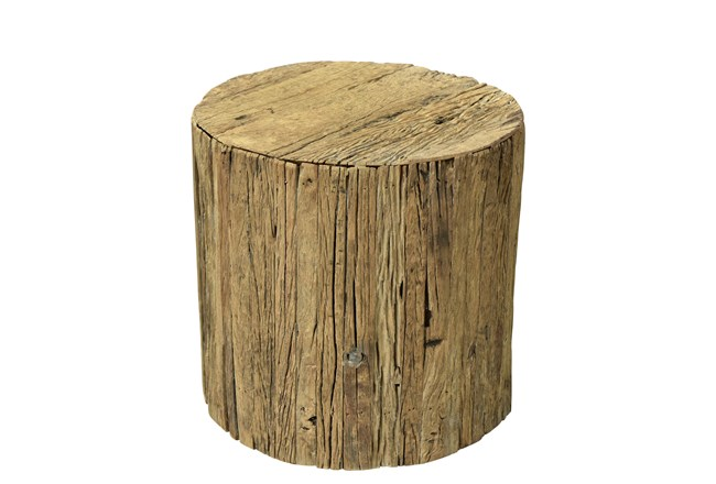 Reclaimed Brown Railway Small Side Table - 360