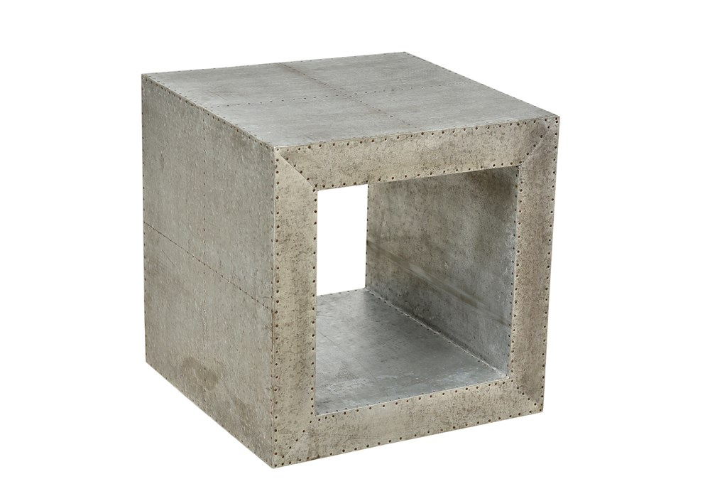 Grey Iron Square Table