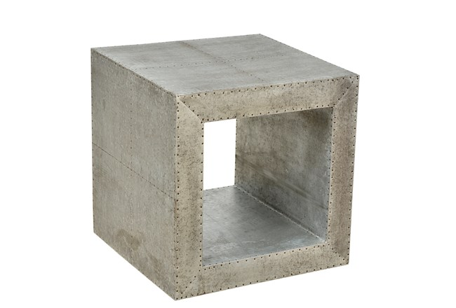 Grey Iron Square Table - 360