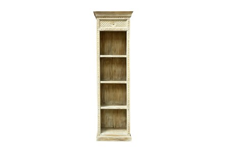 RECLAIMED WHITE BOOKSHELF