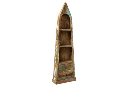 Otb Reclaimed Canoe Book Shelf