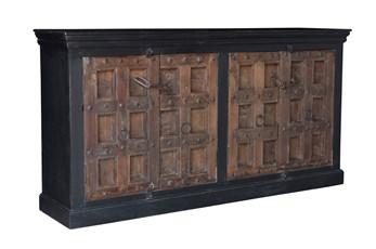 Reclaimed Multicolor 4 Door Sideboard