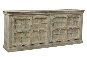 Reclaimed White Wash 4 Door Sideboard