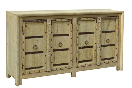 Otb Reclaimed White + Natural 4 Door Sideboard