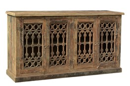 Reclaimed Natural Cast Iron Grill Sideboard