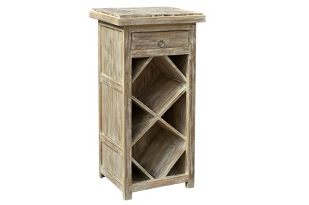 Reclaimed Natural 1 Drawer Wine Rack - Main