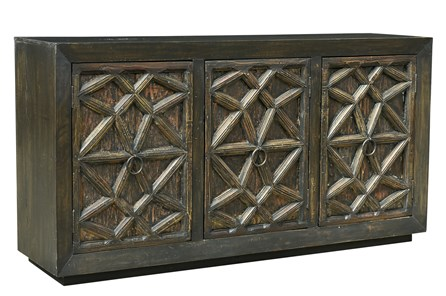 Reclaimed Antique Brown 3 Door Sideboard