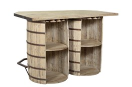 Reclaimed Double Barrel Bar Counter