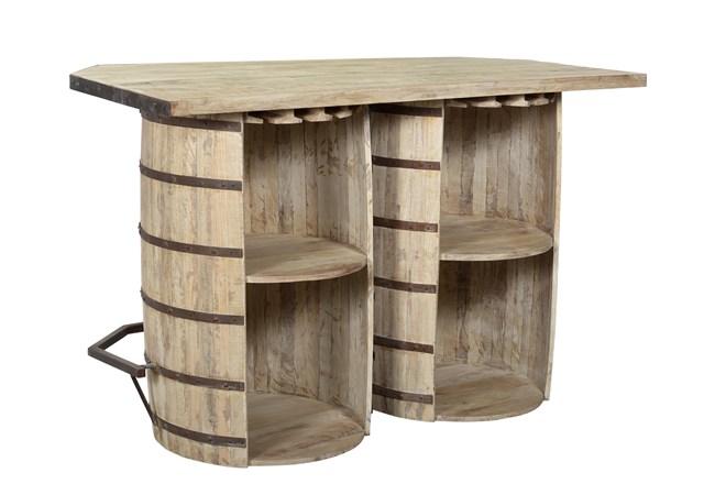 Reclaimed Double Barrel Bar Counter - 360