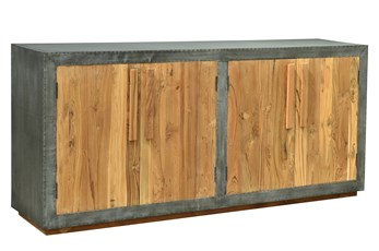 Reclaimed Natural Wood + Iron Sideboard