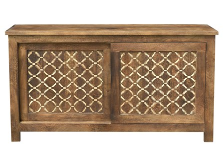 Reclaimed Brown Diamond Print Sideboard